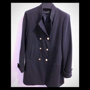ZARA Navy double breasted coat/blazer